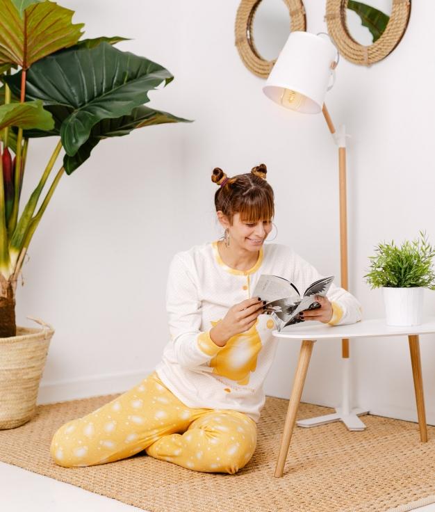 Pijama Riser - Mustard