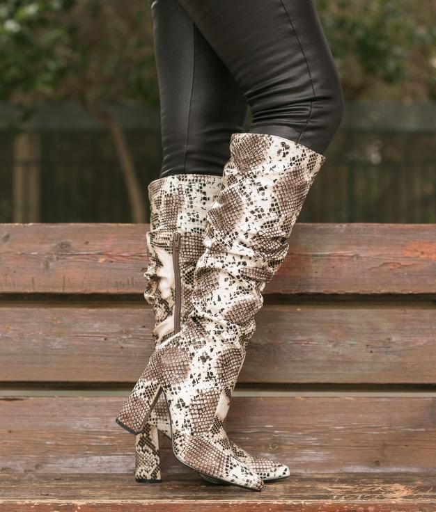 Knee-length Boot Creler - Snake