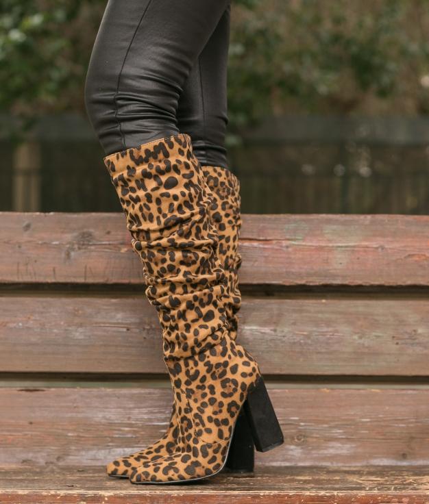 Bota Alta Creler - Leopardo