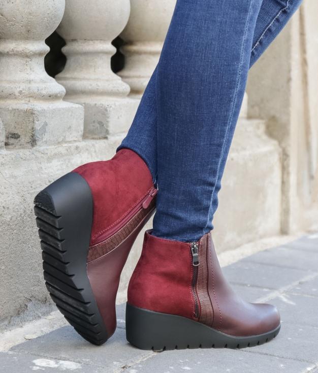 Low Boot Golene - Maroon