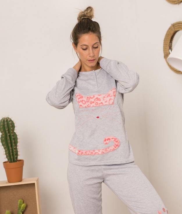 Conjunto Pijama y Chaqueta Hotin - Grey