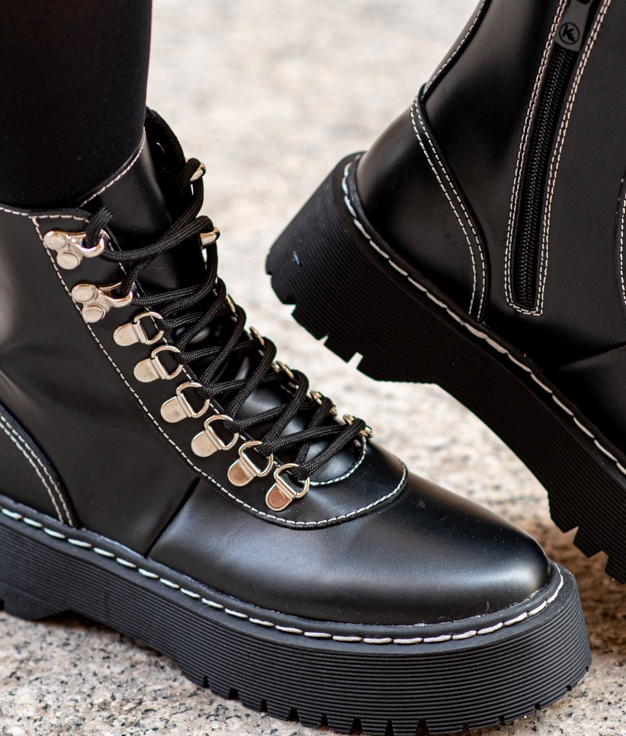 Low Boot Satinfe - Black