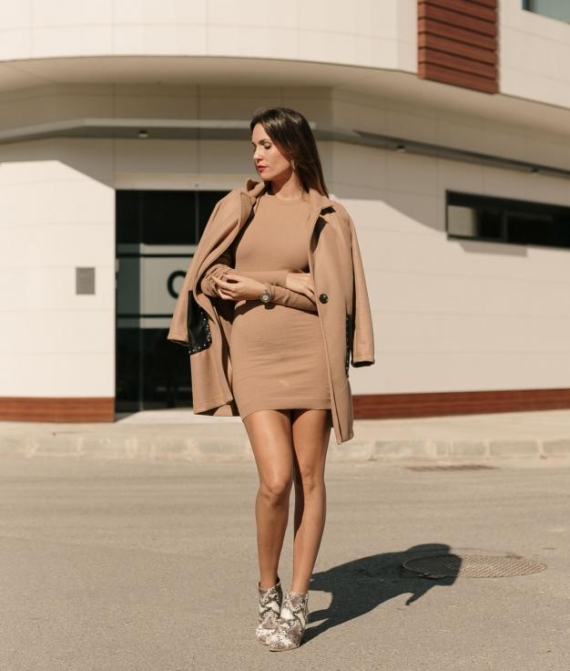 Vestido Benire - Camelo