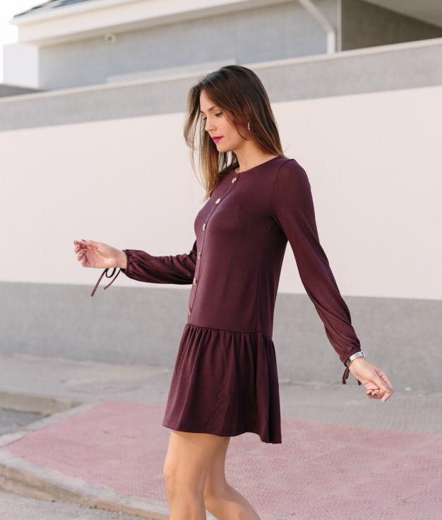 Vestido Solivel - Grená