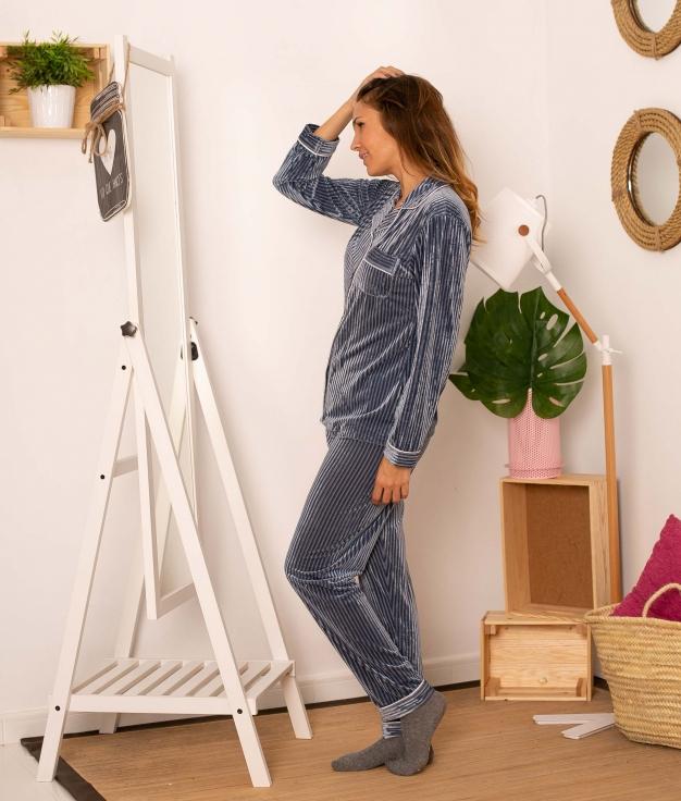 Pijama Tempole  - Azul