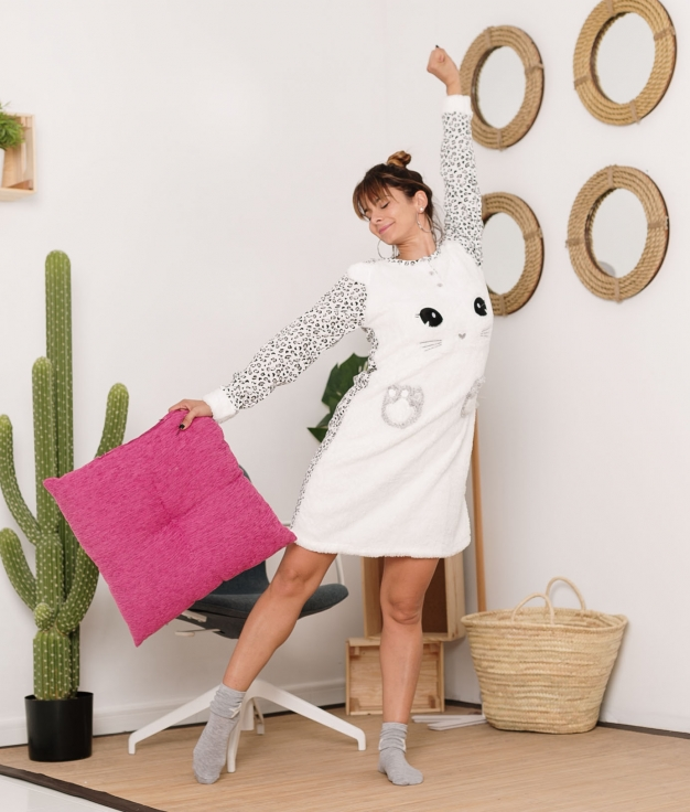 Vestido Pijama Sinete - Gris