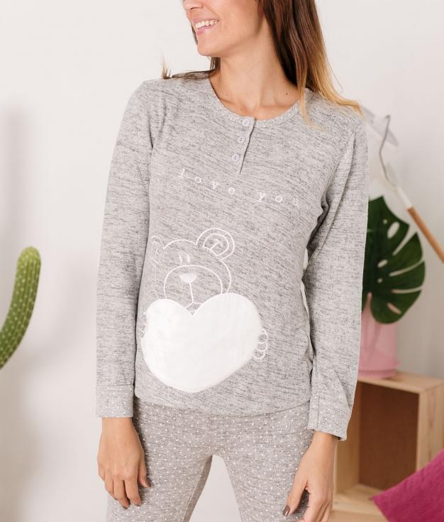 Pijama Piskio - Cinza