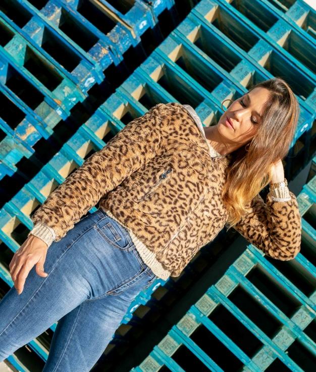 Jaqueta Reversível Decine - Leopardo