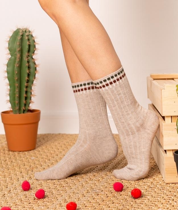 Sock Zetis - Beige