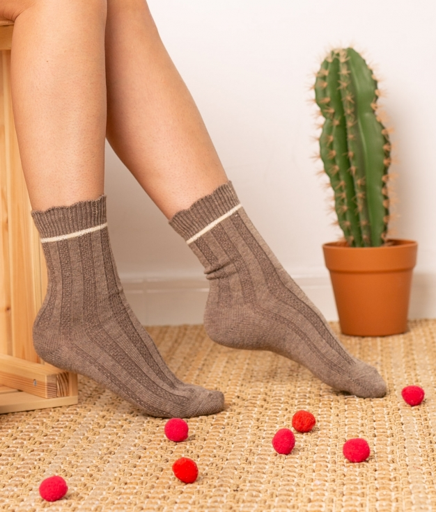 Sock Nepo - Taupe