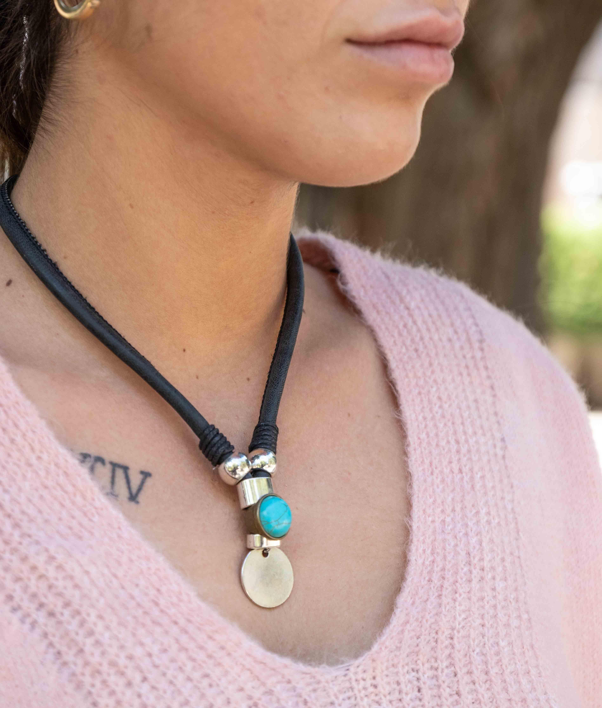 Necklace Lesath - Black