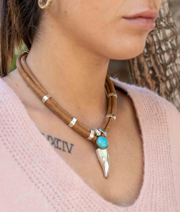 Necklace Deneb - Brown