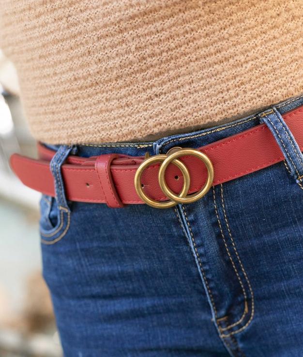 Cinturón Tresio - Rojo