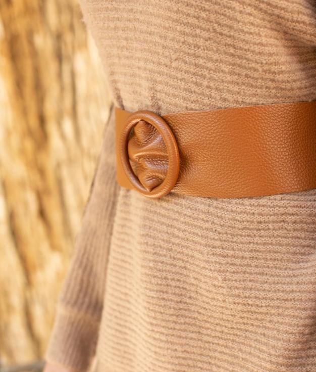 Cinturón Tranis - Camelo