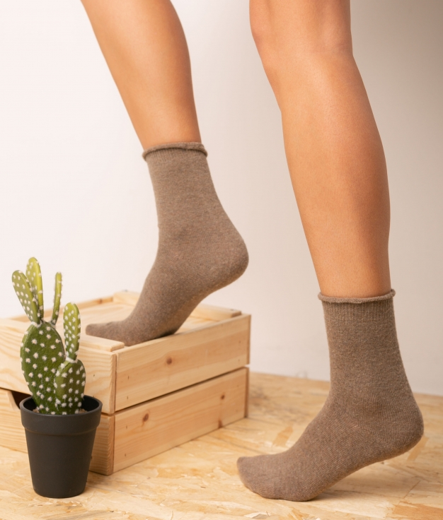 Chaussette Yales - Taupe