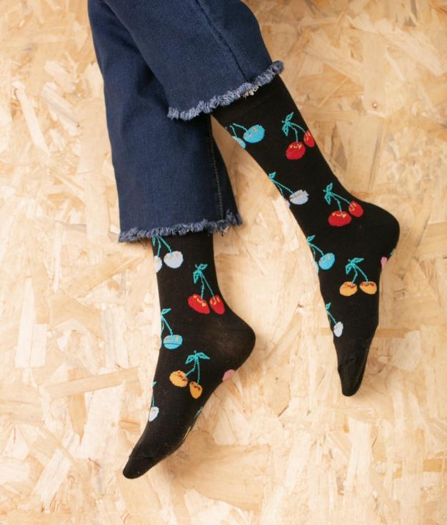 Sock Tombis - Cereza azul