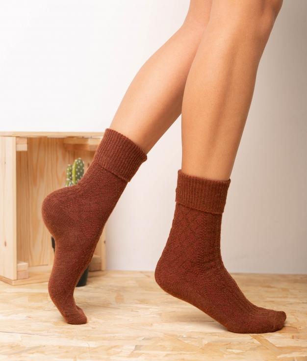 Sock Mirtus - Brick Red