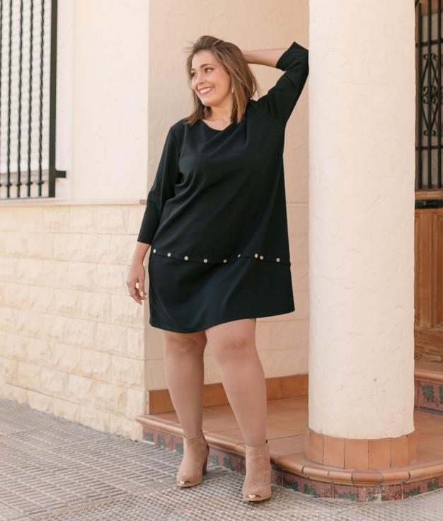 Vestido Aspider - Negro