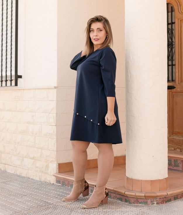 Vestido Aspider - Azul