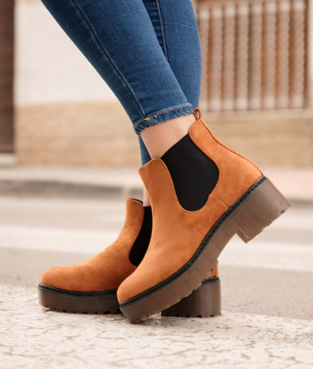 Low Boot Asije - Camel