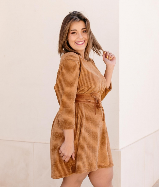 Dress Winta - Camel