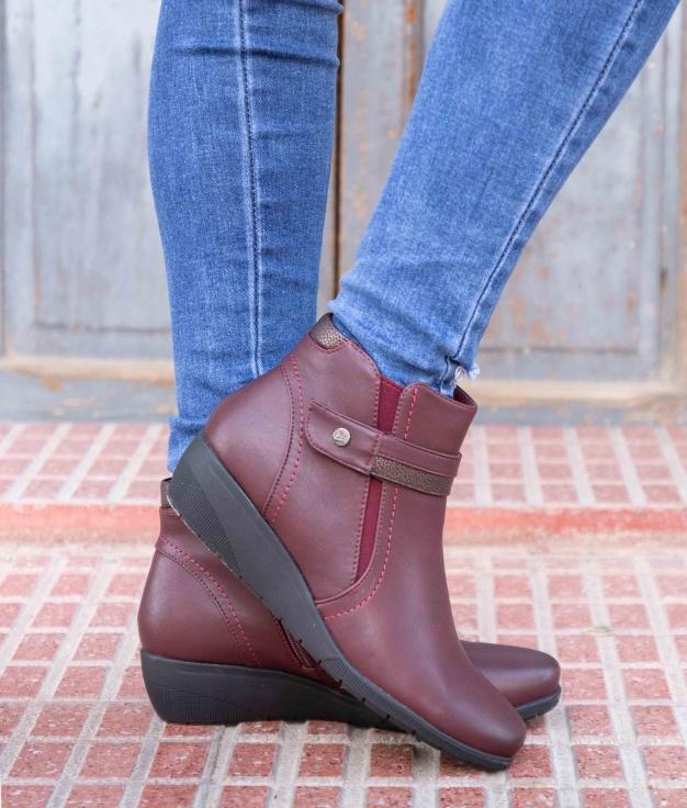 Low Boot Yrusta - Maroon