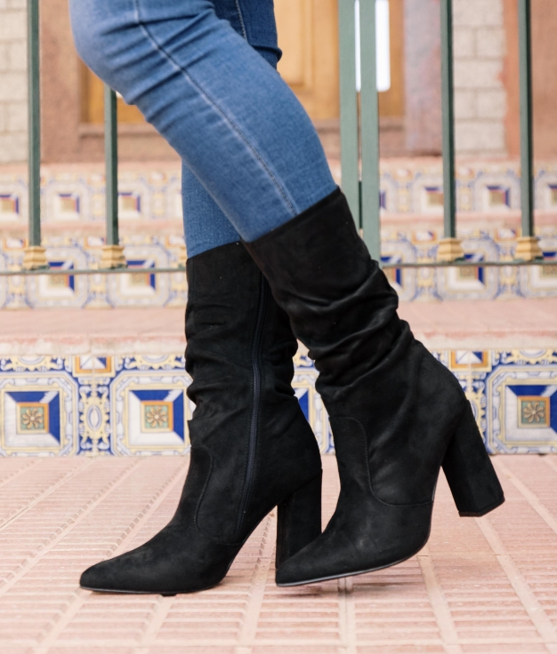 Knee-length Boot Clipse - Black