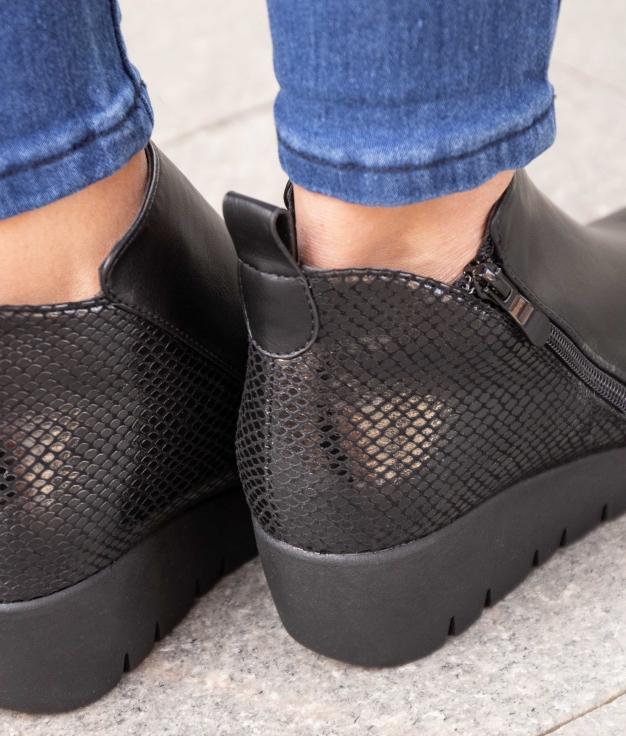 Low Boot Olfer - Black