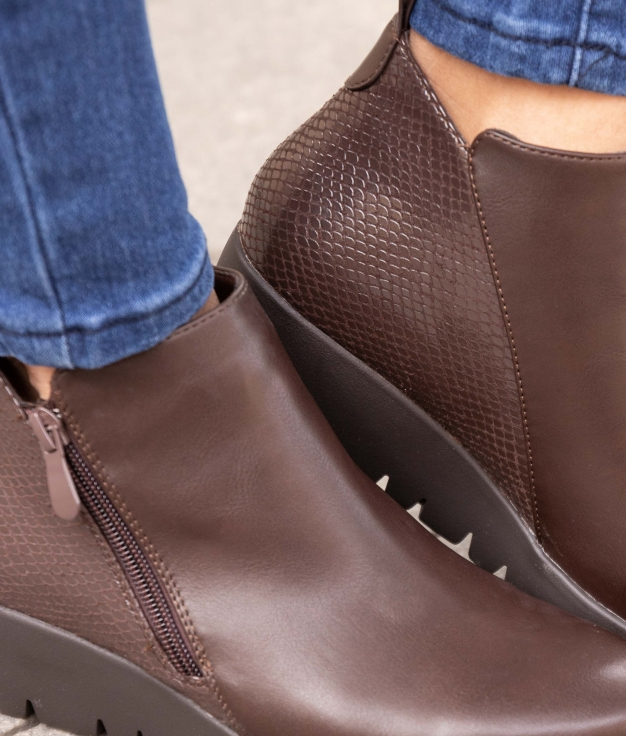 Low Boot Olfer - Brown