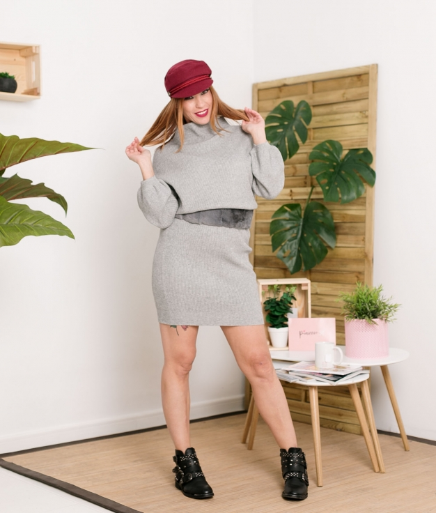 Vestido Plixe - Cinza