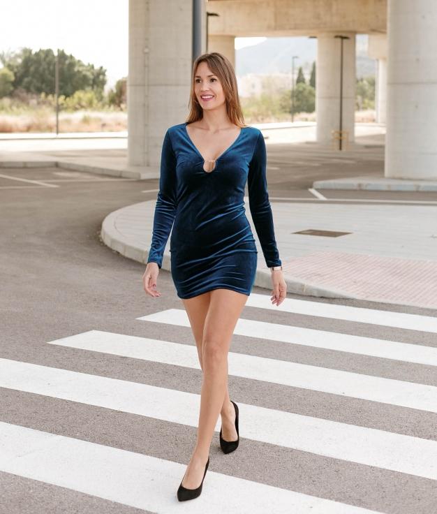 Vestido Tuerfa - Azul