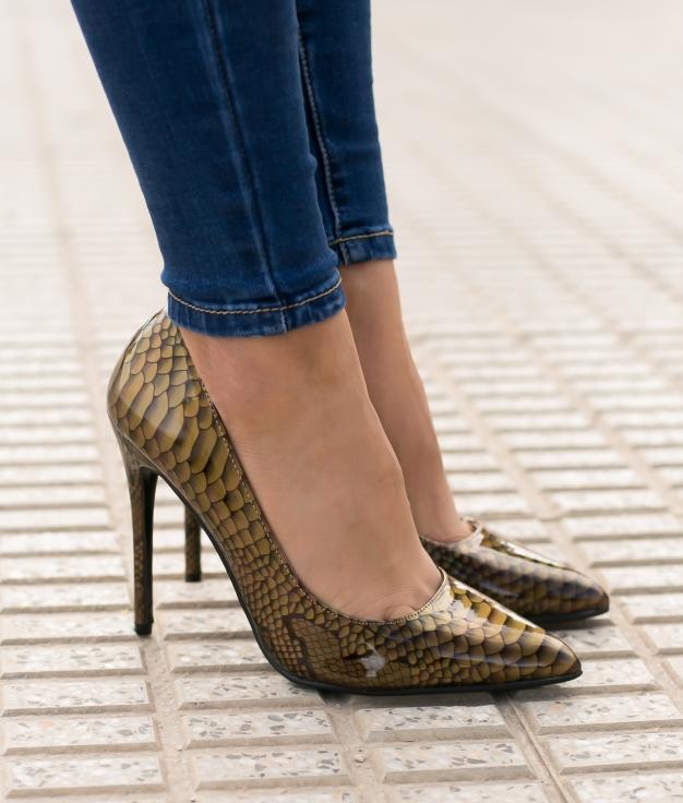 Sapato de Salto Tiure - Oro