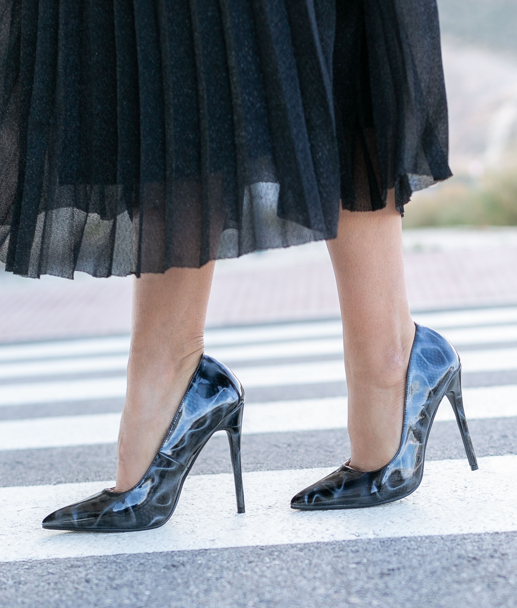 Zapato de Tacón Tiure - Negro