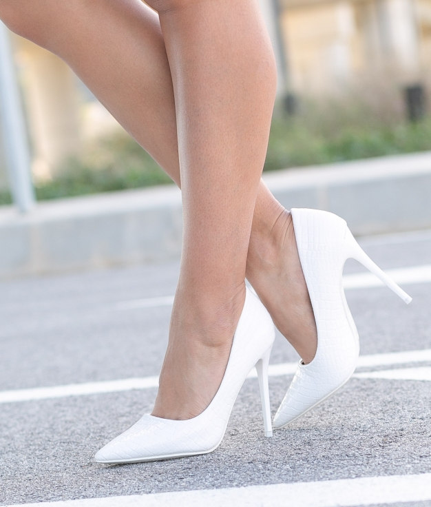 High Heel Salone - White