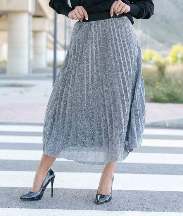 Skirt Zecabe - Silver