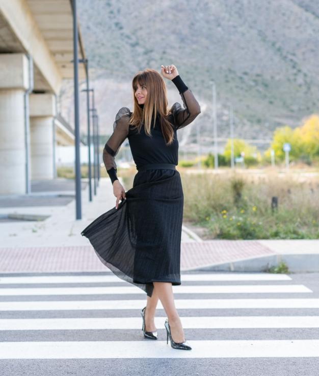 Falda Zecabe - Negro