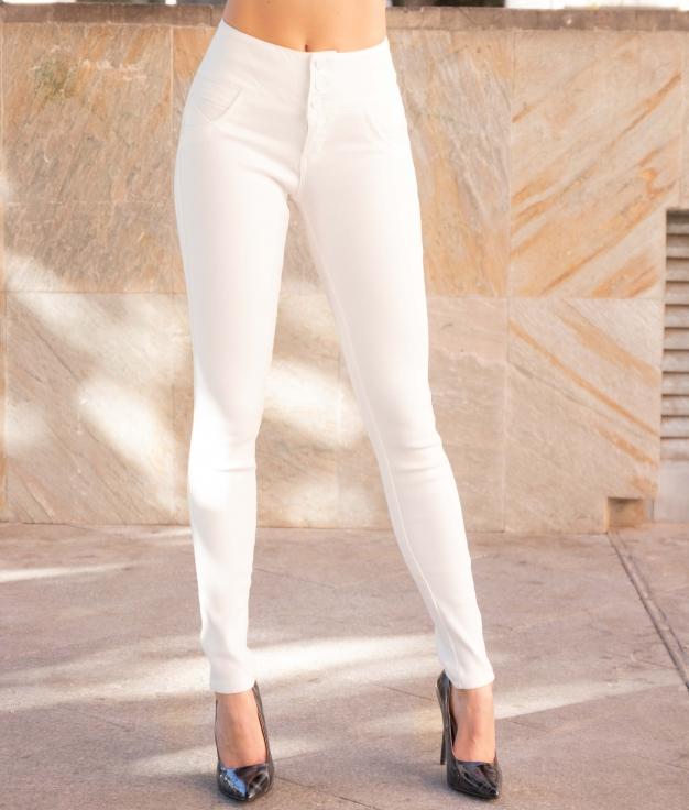 Pantaloni Tarun - Bianc