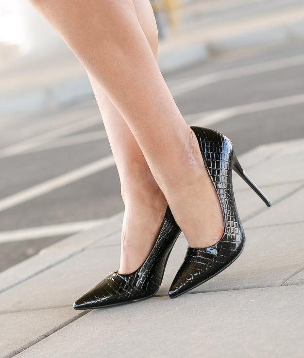 Zapato de Tacón Salone - Negro