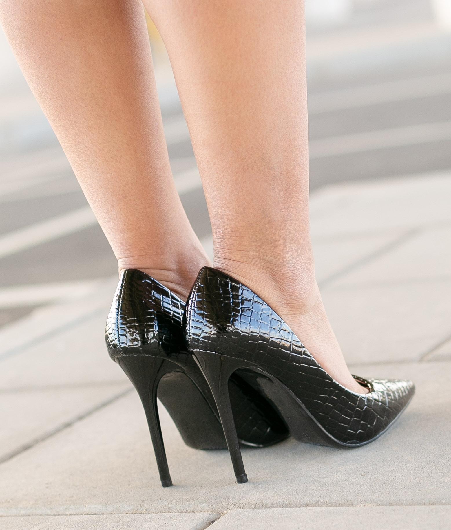 Sapato de Salto Salone - Preto