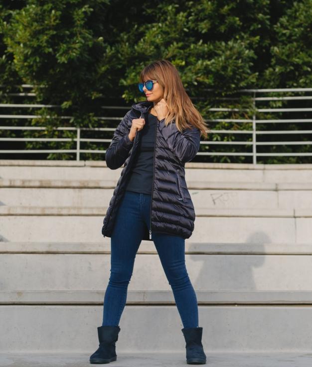 Abrigo Blates - Azul