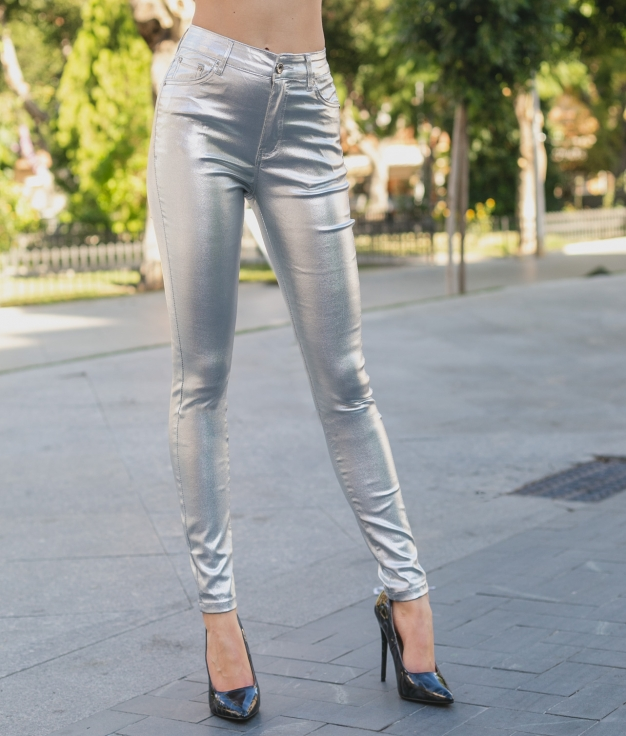 Trousers Lajoli - Silver