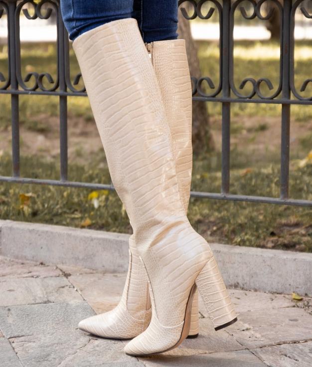 Knee-length Boot Corco - Beige