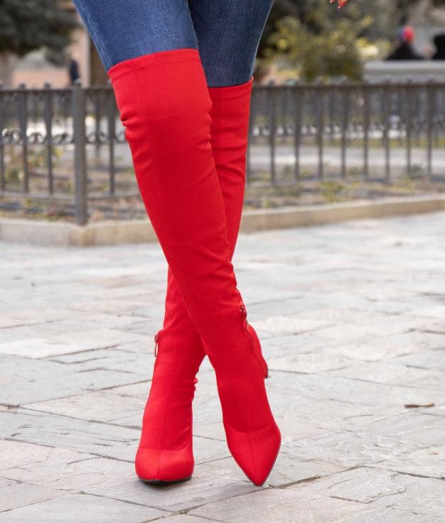 Stivali Alta Uyela - Rosso