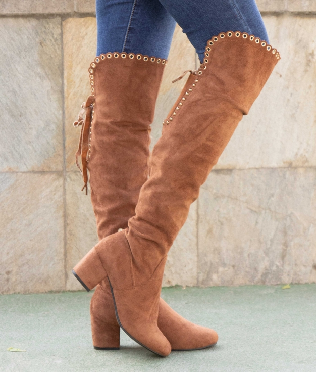 Knee-length Boot Faner - Camel