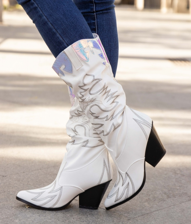 Knee-length Boot Tinale - White