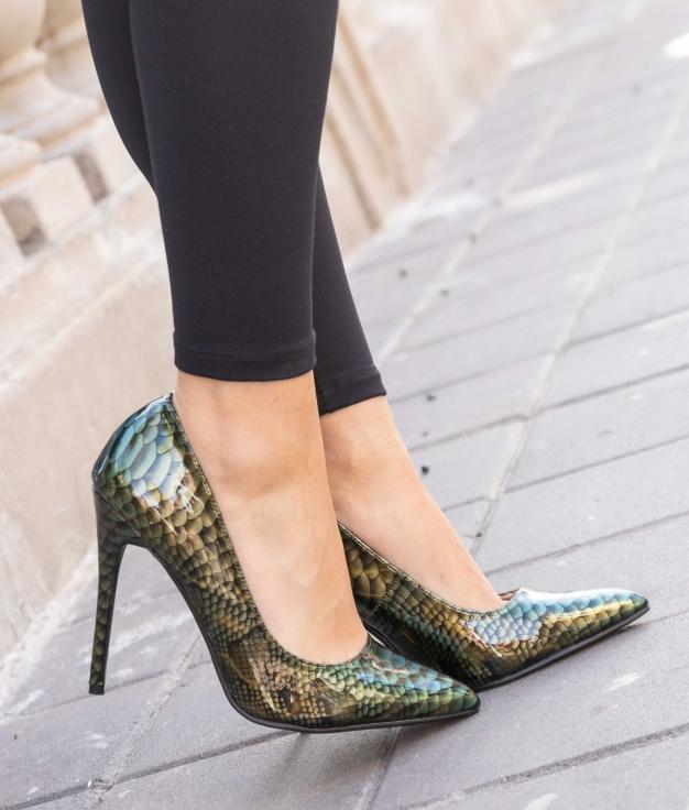 Zapato de Tacón Tiure - Verde