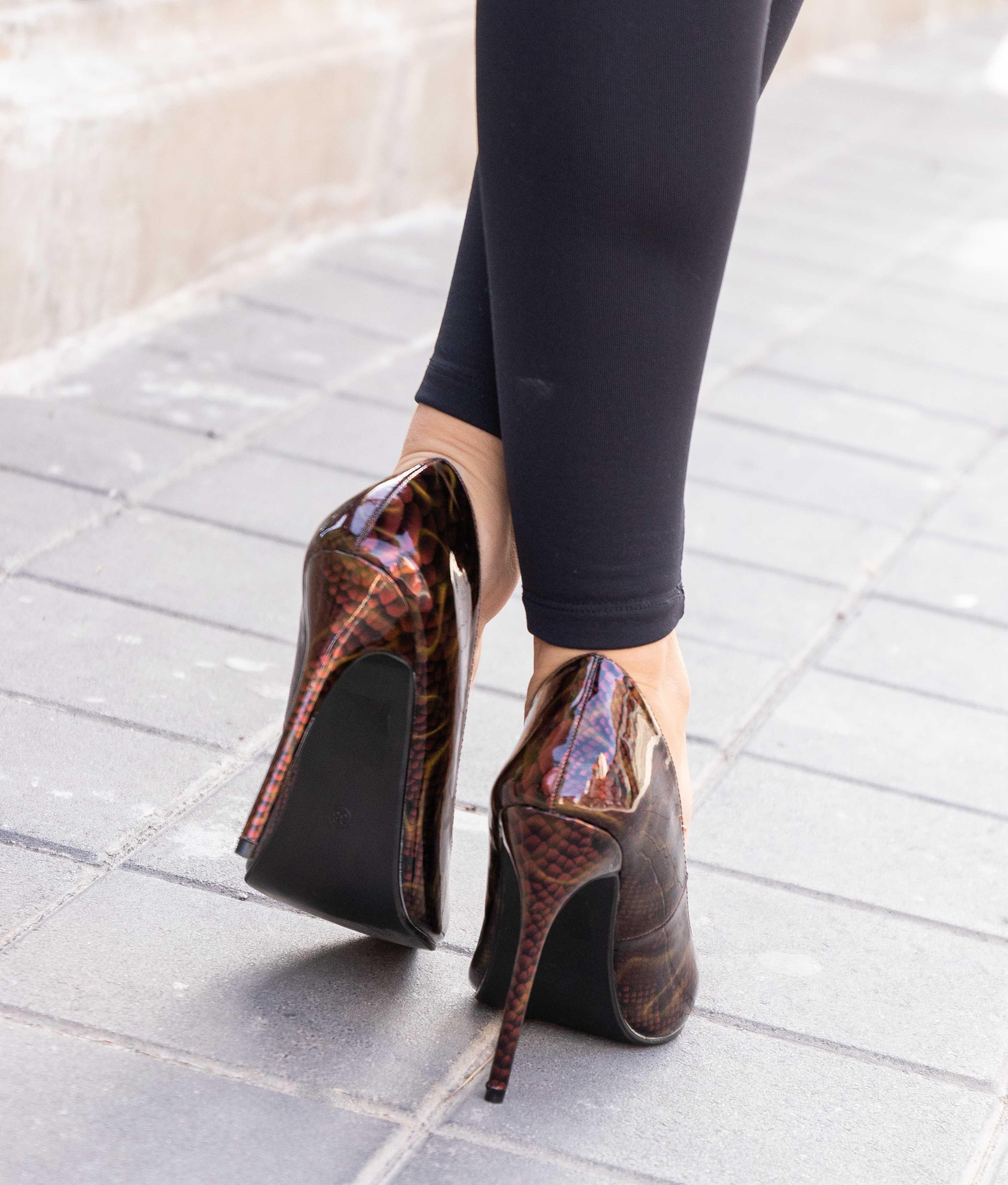 Sapato de Salto Tiure - Vermelho