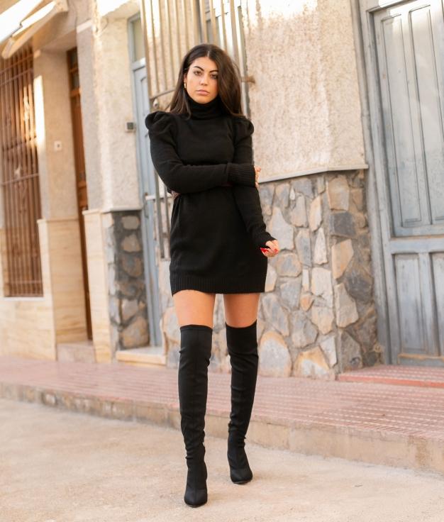 Vestido Creseto - Preto