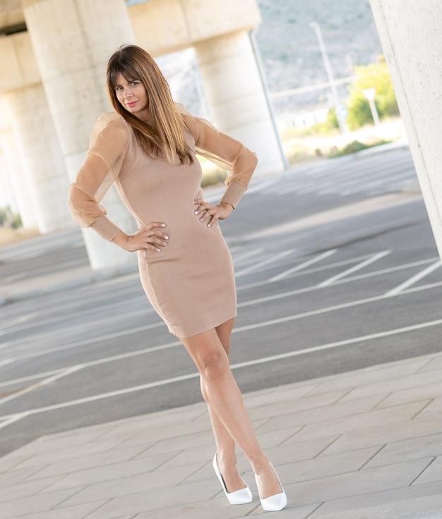 Vestido Presin - Bege
