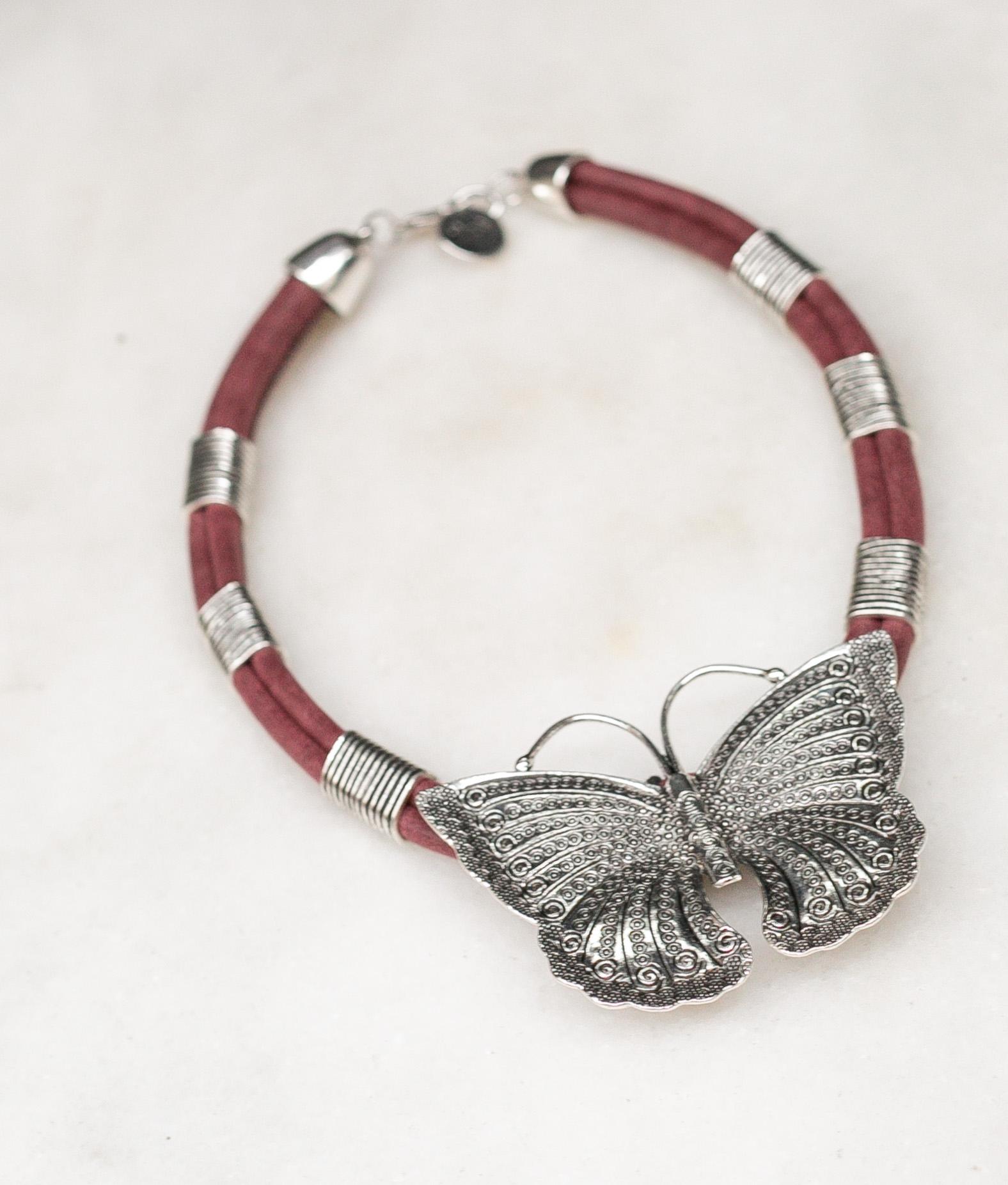 Necklace Tarwy - Maroon